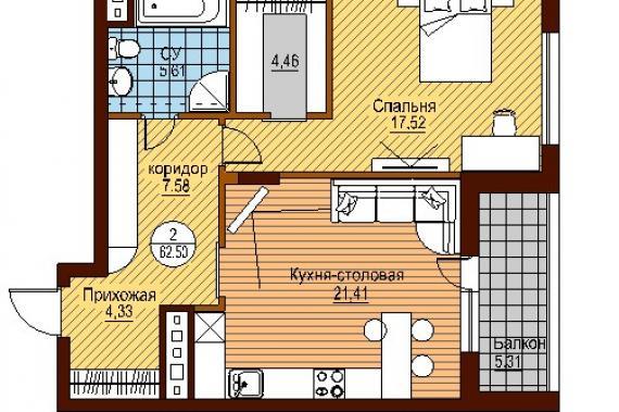Планировка однокомнатных квартир в новостройках