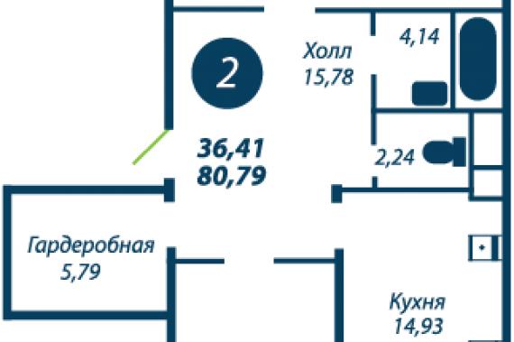 4 комнатная квартира в жк bagatelle